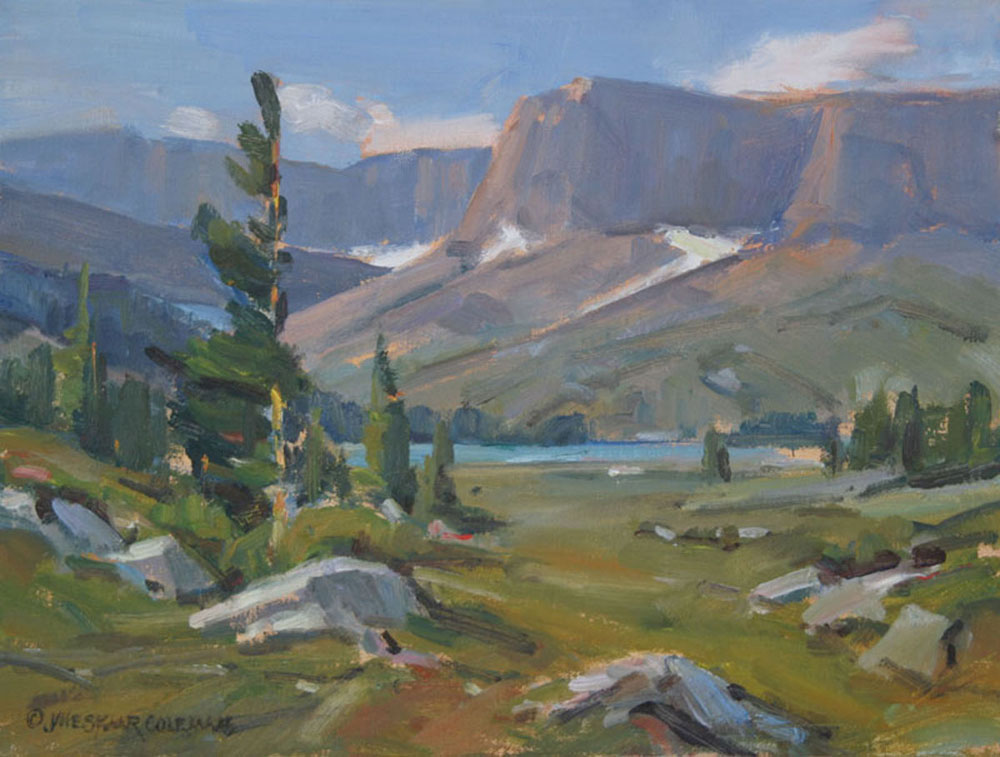 High Country Lake 12 x 16 oil 850